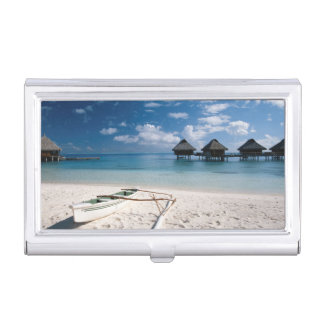 Bungalows from beach Motu Toopua Business Card Holder