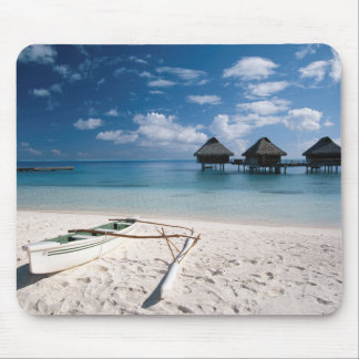 Bungalows from beach Motu Toopua Mouse Pad