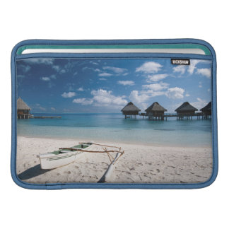 Bungalows from beach Motu Toopua Sleeve For MacBook Air