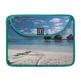 Bungalows from beach Motu Toopua Sleeve For MacBook Pro