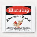 Bungee Jumper Adrenaline Junkie Mouse Pads