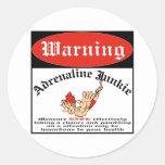 Bungee Jumper Adrenaline Junkie Classic Round Sticker