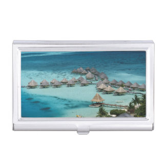 Bunglows of Beachcomber Hotel Business Card Holder