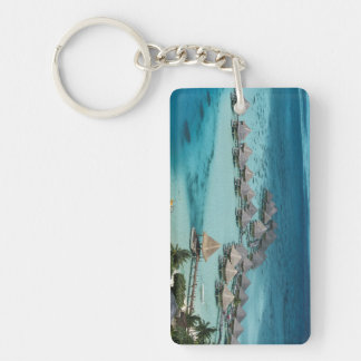 Bunglows of Beachcomber Hotel Key Ring