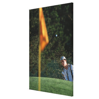 Bunker shot (Golf) Canvas Print