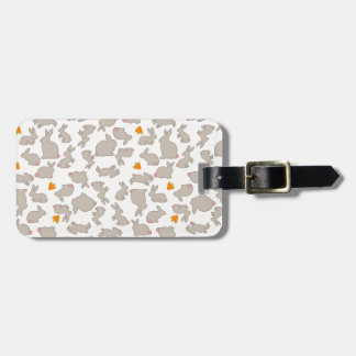 Bunnies and Carrots Pattern Luggage Tag