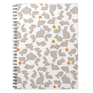 Bunnies and Carrots Pattern Notebooks