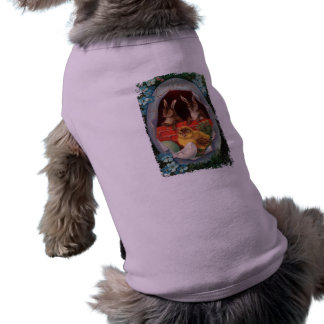 Bunnies and Chick Vintage Easter Dog Shirt