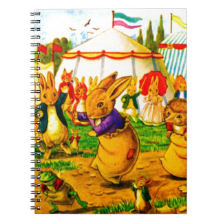 Bunnies and Hedgehogs Spiral Notebook