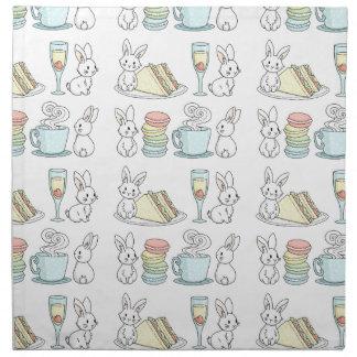 Bunnies at Afternoon Tea Napkin