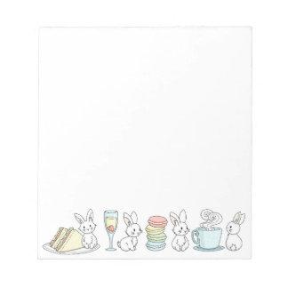 Bunnies at Afternoon Tea Notepad