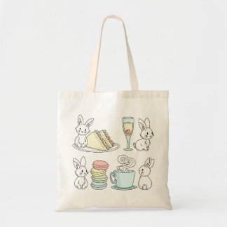 Bunnies at Afternoon Tea Tote Bag