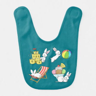 Bunnies at the Beach Bib