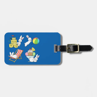 Bunnies at the Beach Luggage Tag