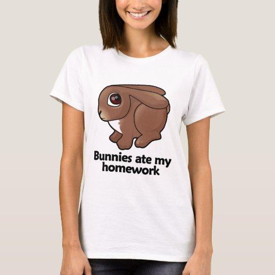 Bunnies ate my homework T-Shirt