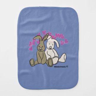 bunnies burp cloth