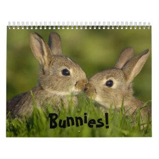 Bunnies calender calendar