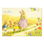Bunnies Easter Party Invitation 13 Cm X 18 Cm Invitation Card