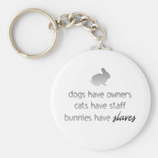 Bunnies Have Slaves Basic Round Button Key Ring