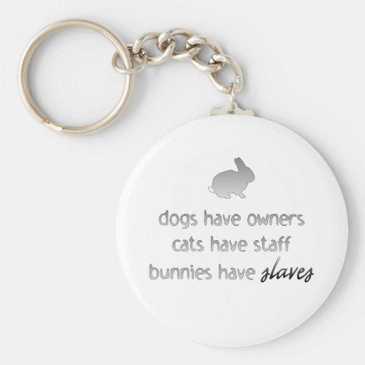 Bunnies Have Slaves Key Chain