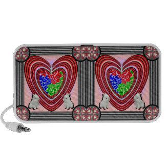 Bunnies Heart Frame Big Transparent Portable Speaker