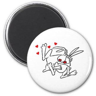 Bunnies In Love Fridge Magnet