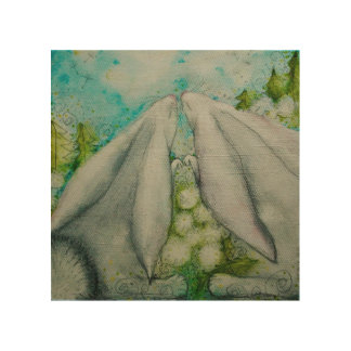 Bunnies in love wood canvases
