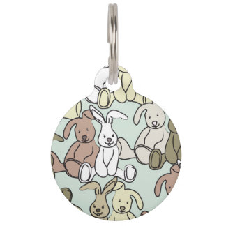 bunnies pet name tags