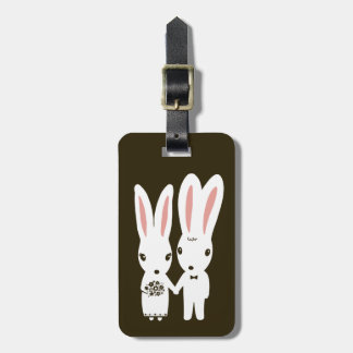 Bunnies Wedding Couple - Cute Bride and Groom Luggage Tag