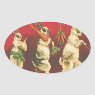 Bunnies with Carrots stickers