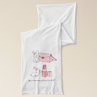 Bunnies with pink stuff scarf