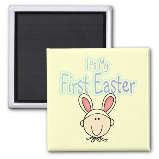 Bunny 1st Easter (boy) Tshirts and Gifts Magnet