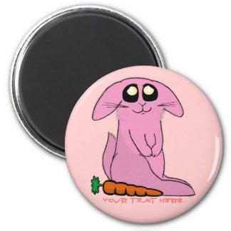 Bunny 6 Cm Round Magnet