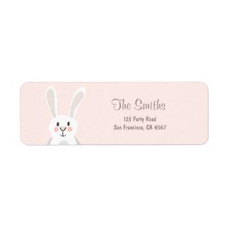 Bunny Address Labels Spring Pink Easter Egg hunt