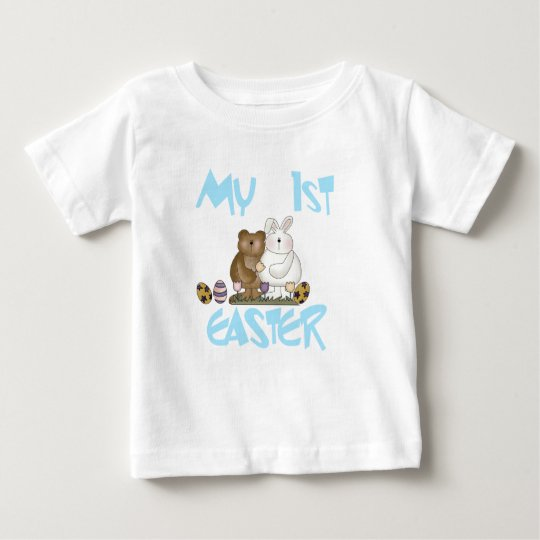 Bunny and Bear 1st Easter Tshirt