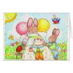 bunny and bug birthday card