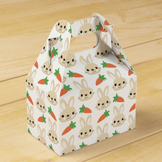 Bunny and Carrot Easter Pattern Favour Box