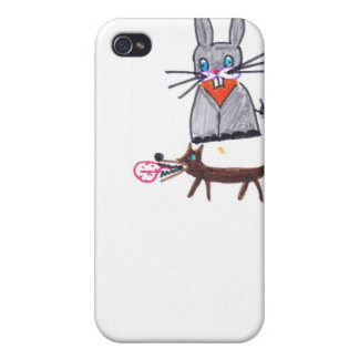bunny and dog friends iPhone 4/4S cases