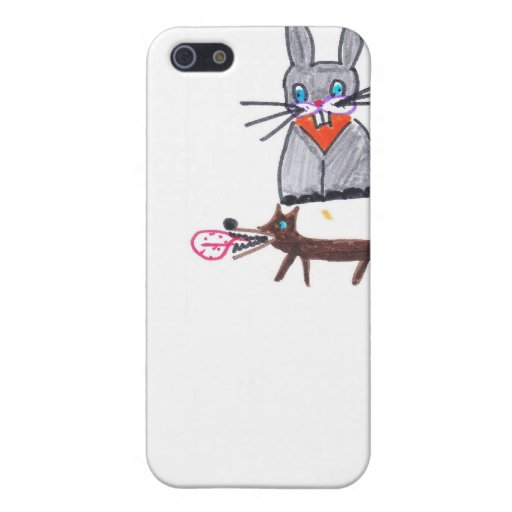 bunny and dog friends iPhone 5 cases