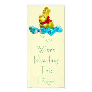 Bunny and Eggs Bookmark Template Personalized Rack Card