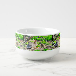 Bunny and Ground Squirrel Soup Bowl