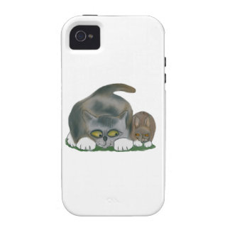 Bunny and Kitten are Best Friends iPhone 4 Cover