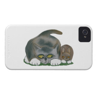 Bunny and Kitten are Best Friends Case-Mate iPhone 4 Case