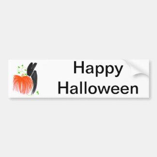 Bunny and pumpkin01 bumper sticker
