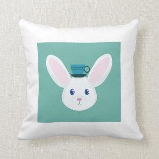 Bunny and Tea Cushion