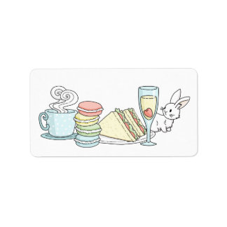 Bunny at Afternoon Tea Label