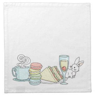 Bunny at Afternoon Tea Napkin