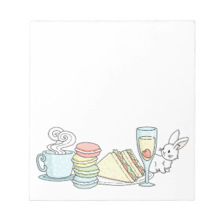 Bunny at Afternoon Tea Notepads