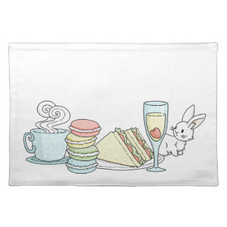 Bunny at Afternoon Tea Placemat