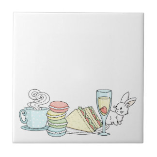 Bunny at Afternoon Tea Tile
